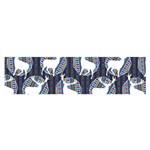 Geometric Deer Retro Pattern Satin Scarf (Oblong) Front