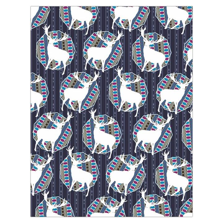 Geometric Deer Retro Pattern Drawstring Bag (Large)