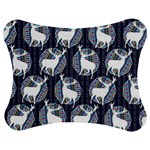 Geometric Deer Retro Pattern Jigsaw Puzzle Photo Stand (Bow) Front