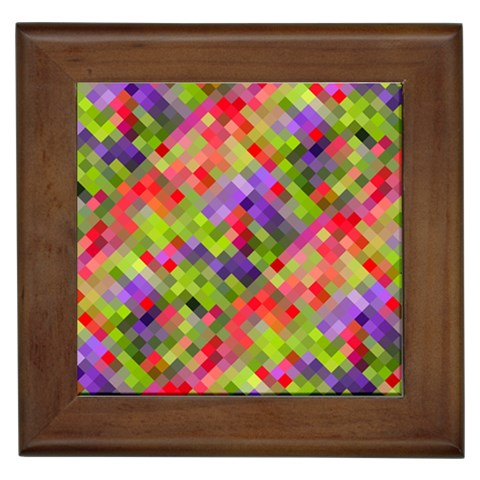Colorful Mosaic Framed Tiles