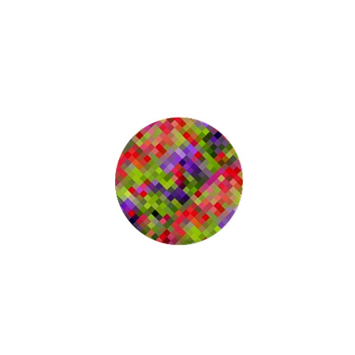 Colorful Mosaic 1  Mini Buttons