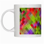 Colorful Mosaic White Mugs Left