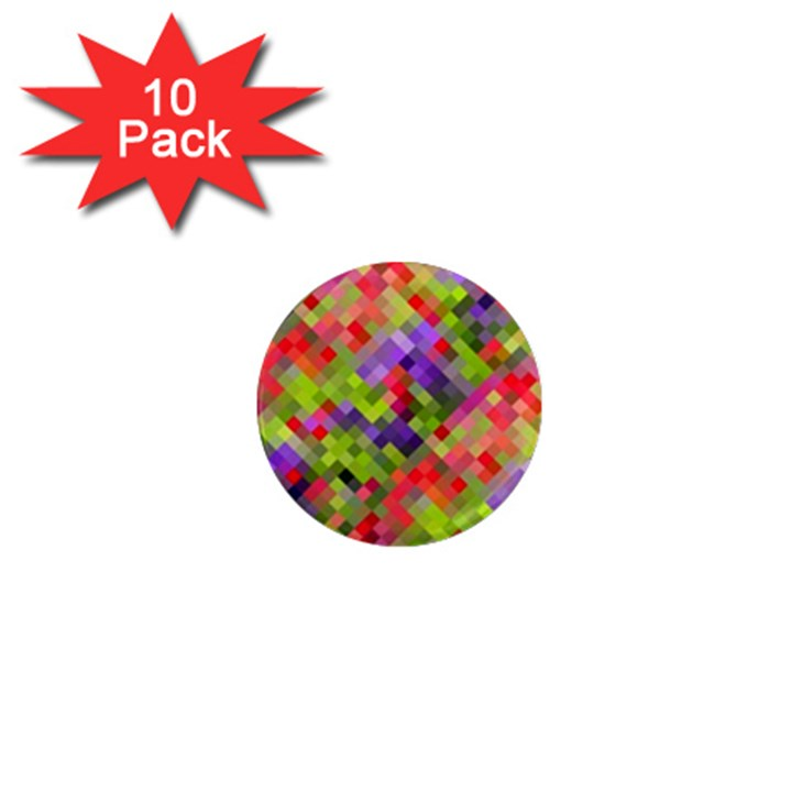 Colorful Mosaic 1  Mini Magnet (10 pack)