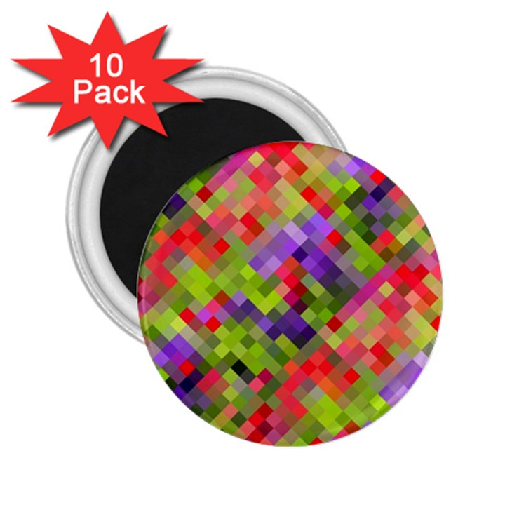 Colorful Mosaic 2.25  Magnets (10 pack)