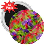 Colorful Mosaic 3  Magnets (10 pack)  Front