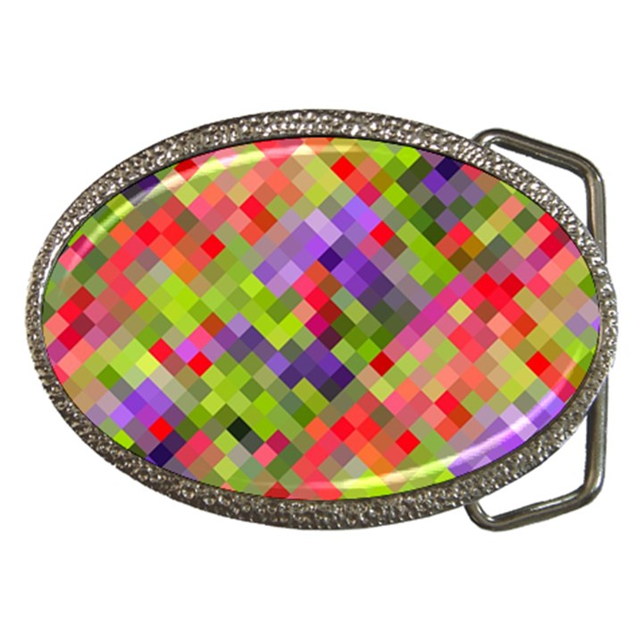 Colorful Mosaic Belt Buckles