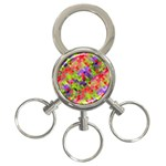 Colorful Mosaic 3-Ring Key Chains Front