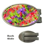 Colorful Mosaic Money Clips (Oval)  Front
