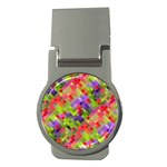 Colorful Mosaic Money Clips (Round)  Front