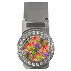 Colorful Mosaic Money Clips (cz)