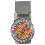 Colorful Mosaic Money Clips (CZ)  Front