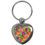 Colorful Mosaic Key Chains (Heart)  Front