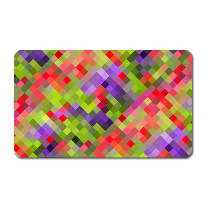 Colorful Mosaic Magnet (Rectangular)