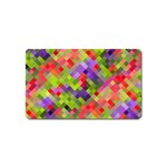 Colorful Mosaic Magnet (Name Card) Front