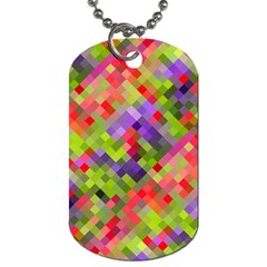 Colorful Mosaic Dog Tag (one Side)