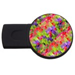 Colorful Mosaic USB Flash Drive Round (1 GB)  Front