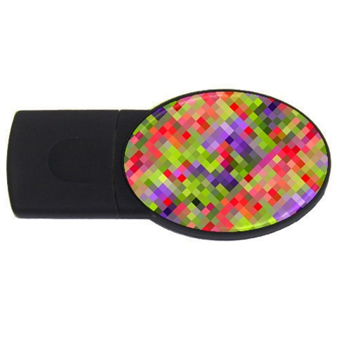 Colorful Mosaic USB Flash Drive Oval (1 GB)