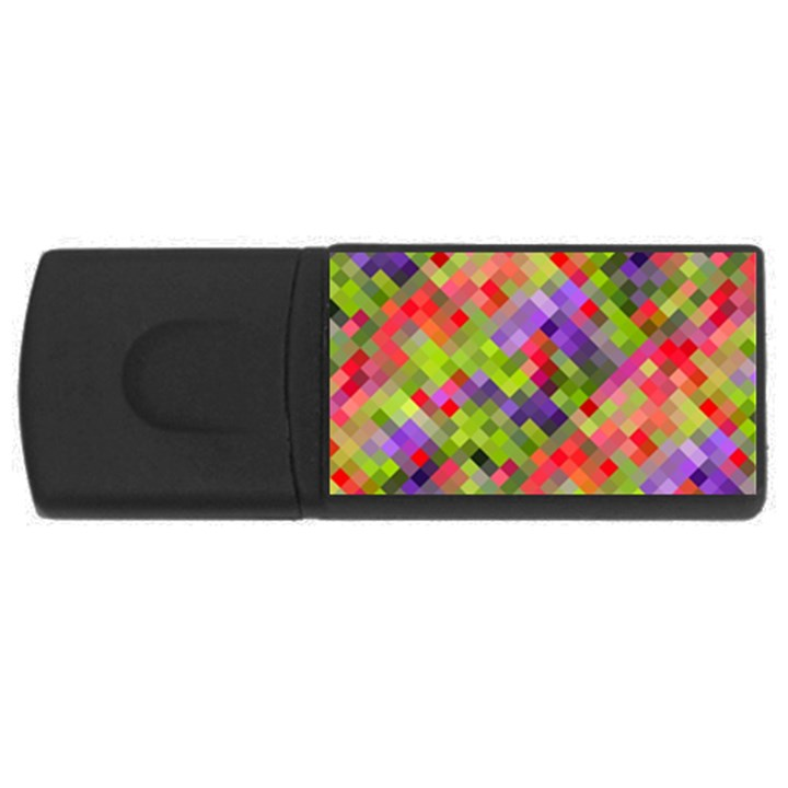 Colorful Mosaic USB Flash Drive Rectangular (2 GB)