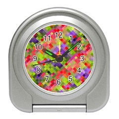 Colorful Mosaic Travel Alarm Clocks