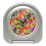 Colorful Mosaic Travel Alarm Clocks Front