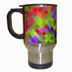 Colorful Mosaic Travel Mugs (White)