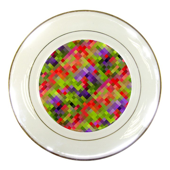 Colorful Mosaic Porcelain Plates