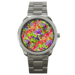 Colorful Mosaic Sport Metal Watch