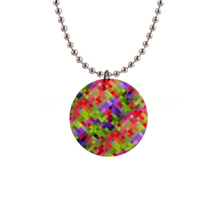 Colorful Mosaic Button Necklaces