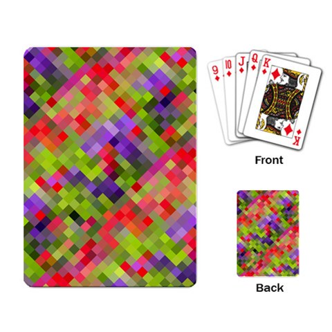 Colorful Mosaic Playing Card