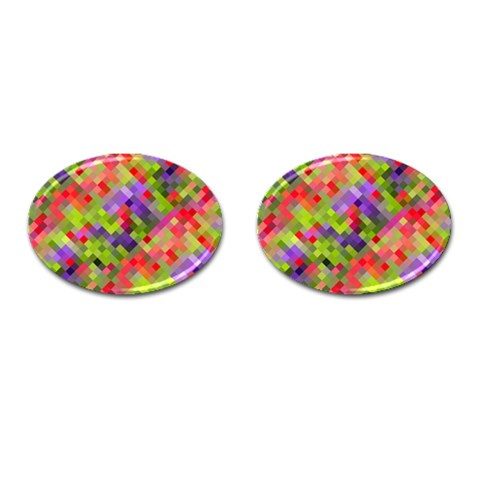 Colorful Mosaic Cufflinks (Oval)