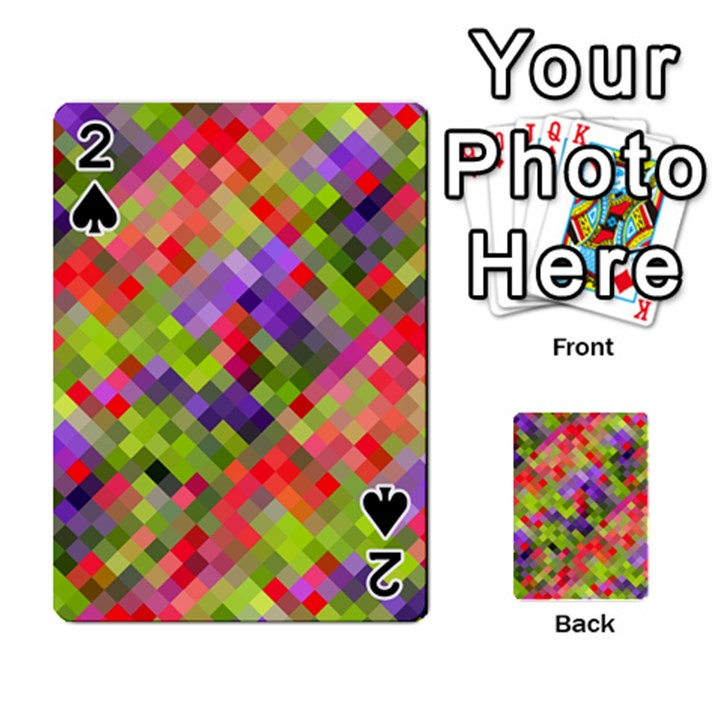 Colorful Mosaic Playing Cards 54 Designs