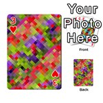 Colorful Mosaic Playing Cards 54 Designs  Front - Heart3