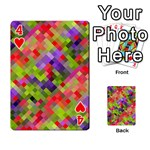 Colorful Mosaic Playing Cards 54 Designs  Front - Heart4