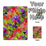 Colorful Mosaic Playing Cards 54 Designs  Front - Club9