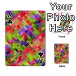 Colorful Mosaic Playing Cards 54 Designs  Front - ClubA