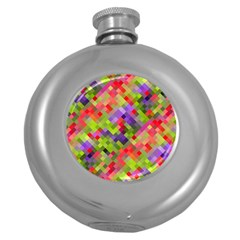 Colorful Mosaic Round Hip Flask (5 oz)