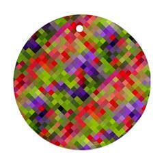 Colorful Mosaic Round Ornament (Two Sides)