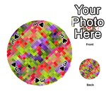 Colorful Mosaic Playing Cards 54 (Round)  Front - Spade3