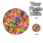 Colorful Mosaic Playing Cards 54 (Round)  Front - Heart3