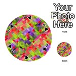 Colorful Mosaic Playing Cards 54 (Round)  Front - Spade7