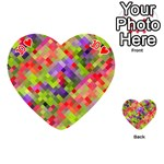 Colorful Mosaic Playing Cards 54 (Heart)  Front - Heart10