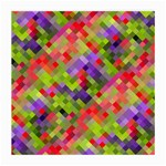 Colorful Mosaic Medium Glasses Cloth Front