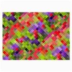 Colorful Mosaic Large Glasses Cloth (2-Side) Front