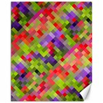 Colorful Mosaic Canvas 11  x 14   14 x11 Canvas - 1