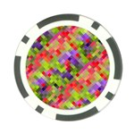 Colorful Mosaic Poker Chip Card Guards Back