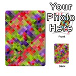 Colorful Mosaic Multi-purpose Cards (Rectangle)  Back 9