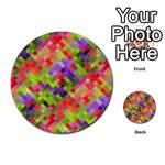 Colorful Mosaic Multi-purpose Cards (Round)  Front 22