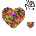 Colorful Mosaic Multi-purpose Cards (Heart)  Front 4