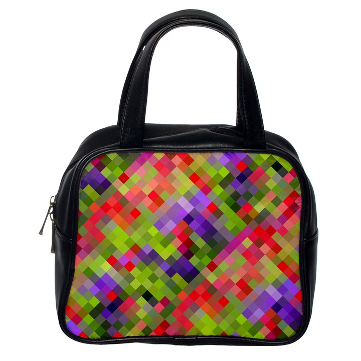 Colorful Mosaic Classic Handbags (One Side)