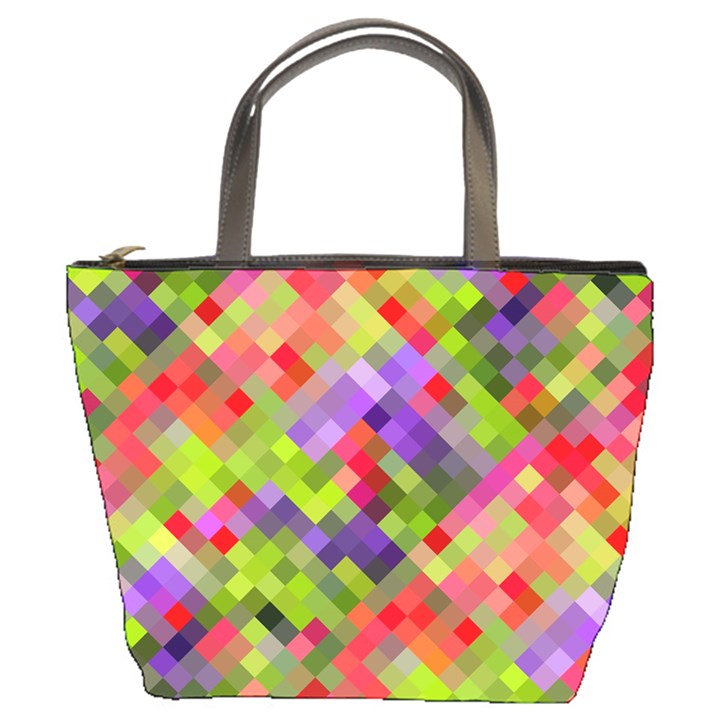 Colorful Mosaic Bucket Bags